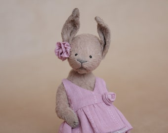 Teddy Bear Teddy Bunny Jeannelle Stuffed Animal Soft Toy Handmade Toy Artist Teddy Bear OOAK