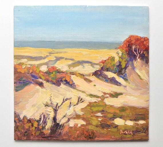 "Beach dunes, Plum Island, Massachusetts, 10"" x 10"""
