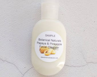 Sample Papaya Pineapple Enzyme Face Wash, Natural Facial Cleanser, All Skin Types
