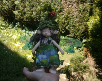 fairy doll, clay doll, art doll,  posable doll,  woodland fairy  horses lover
