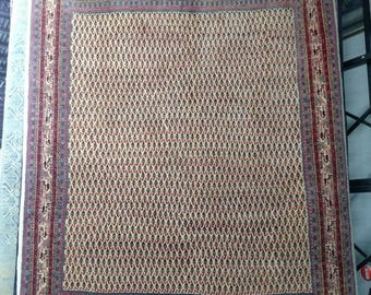 SUMMER CLEARANCE 1970s Hand-Knotted Vintage Persian Mir-Sarouk Rug (3313)