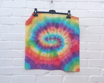 Rainbow Tie Dye Bandana Hippie Gift Psychedelic Scarf Head Wrap Cover Festival Clothing LGBT Pride