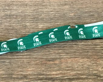 ADJUSTABLE! Michigan State Spartans Baby to Adult Head Band-Spartans Elastic Band-MSU Hair Band-MSU Spartans Football Hair-Spartans Baby