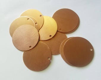 Large Copper Circle Blank Tag 31mm - wholesale blanks - jewelry - keychain stamping supplies