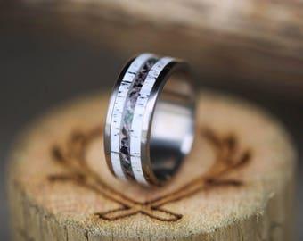 "The ""Rainier"" - Elk Antler & Camo Wedding Ring - Staghead Designs"