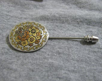 Reed an Barton 24k gold plated Damascene brooch pin