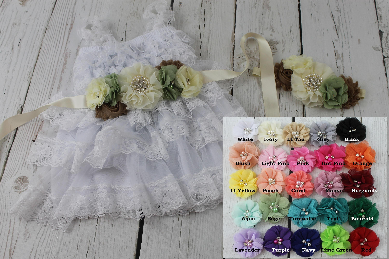 Flower Girl Dress White Flower Girl Dress Rustic Flower Girl Dress