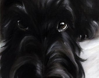 """Scottie """"Pout"""" Scotty dog Scottish Terrier  Art by  Mary Sparrow of Hanging the Moon"""