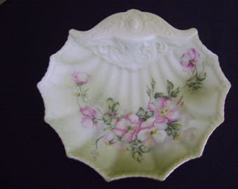 Vintage Nippon Hand Painted Shell dish