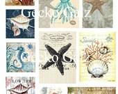 Sea Life Digital Collage Sheet