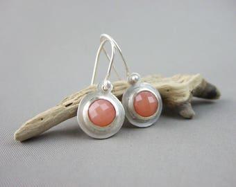 Apricot Agate Drop Earrings