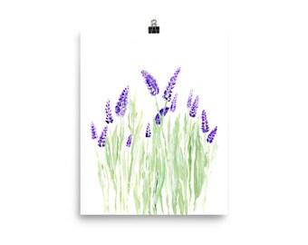 Lavender Painting, lavender art print, lavender wall art, lavender print, lavender art, flower wall art, floral art print, minimalist print