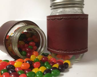 Desk candy jar etsy personalized candy jar easter decor glass mason jar hugger for any occasion with or without a negle Gallery