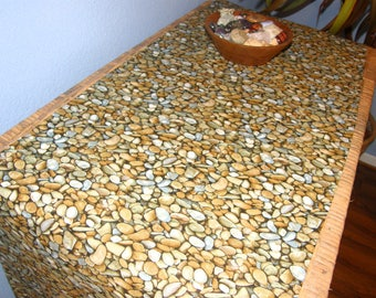 Pebbles Rocks Table Runner - Awesome Lifelike Print on Cotton, also available as a tablecloth