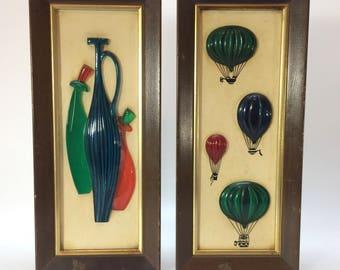 Illinois moulding co ArtWork Bottles & Balloons retro 1960's