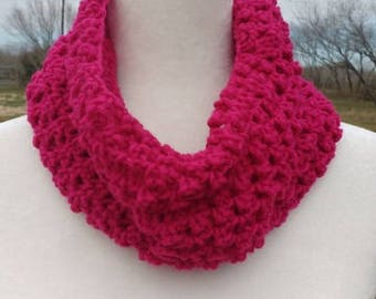 Crochet Cowl or neckwarmer (available in two colors)