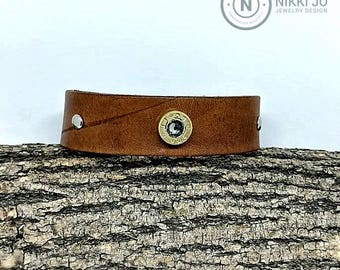 Brown Leather .223 Cuff