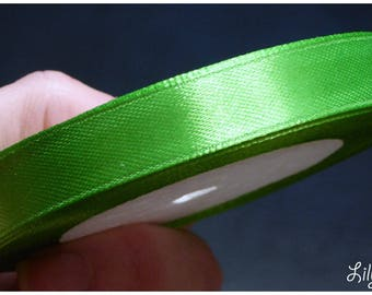 1 meter of Ribbon in Apple green satin 12mm