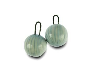 Misty Ocean Porcelain Earring Charm Beads Ceramic - Handmade in South Africa