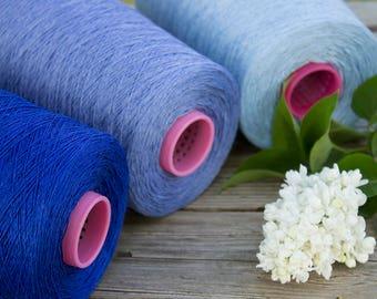 Weaving yarn on cone- 100% linen yarn - total 1.5kg / 52.5oz