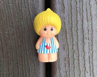 Vintage Kenner Tree Tots Blonde Boy with Overalls