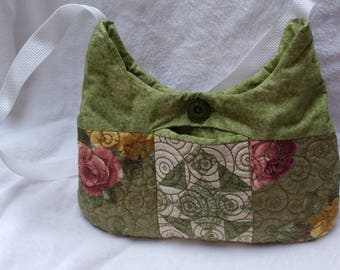 Floral Quilted Hobo Bag