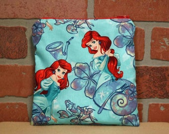 One Sandwich Bag, Reusable Lunch Bags, Waste-Free Lunch, Machine Washable, Little Mermaid, Sandwich Sacks, item #SS76
