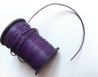 5 m purple waxed 1 mm
