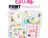 Sweet Paradise 2 sheets only, Digital Bible Journaling, Margin Stickers, Bookmarks, Sticker Printable