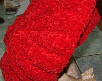 New handmade - Ribbed red wool Beret