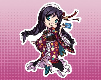 LLSIF Love Live School Idol Festival / School Idol Project - Nozomi Toujo Taisho Roman Large Die Cut Vinyl Fan Art Sticker