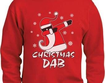 Dabbing Santa Christmas Dab Funny Xmas Sweatshirt