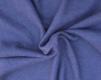 """Washed Denim Cotton Blend Fleece Fabric by the Yard 62""""W 6/16"""