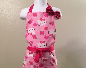 Pink hearts Hello Kitty Apron