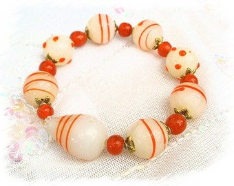 set of mix beads orange set 4