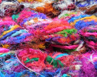 40 Yards,  ART Yarn,  Multicolored,  Fair Trade,  Very Frayed,  For Creative Minds