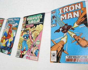 Vintage Marvel Comic Book Bunting/ Party Decor/ Room Decor