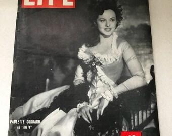 Vintage Life Magazine * December 17, 1945 * Paulette Goddard