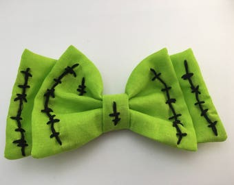 Lime Green Zombie Bow READY TO SHIP #1