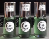 Azure Blue Oil - therapeutic herbal oil, aromatherapy, peppermint and blue chamomile, headache remedy, natural energizer