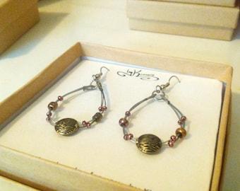 Metal Bead Teardrop Earrings, Wire Bead Teardrop, Bead Teardrop Earrings,