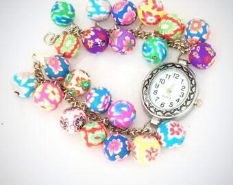 Beaded Watch, Beaded Watch Band, Watch Bracelet, Watch Women, Women Watches, Ladies Watch, Unique Women's Watches, Womens Watches,
