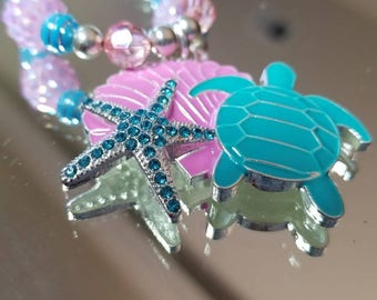 Sparkly beach themed little girls neacklace