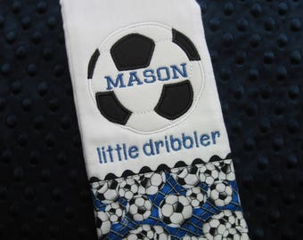 Personalized Baby Boy SOCCER Burp Cloth