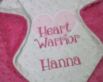 Personalized Lovey Blanket for that special CHD Heart Warrior Princess
