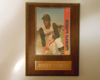 Vintage Roberto Clemente Sports Plaque