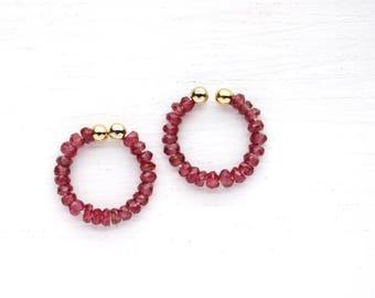 Ruby Non Pierced Earrings - July Birthstone - Precious Gemstone Jewelry
