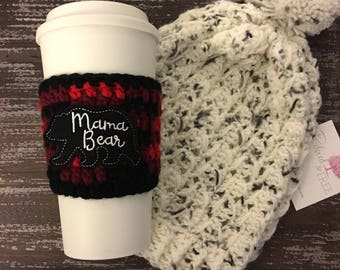 Mama Bear Cup Cozy, Coffee Cozy, Mama Bear, Coffee Sleeve, Cozy, Sleeve, Gifts under 15, Cup Cozy