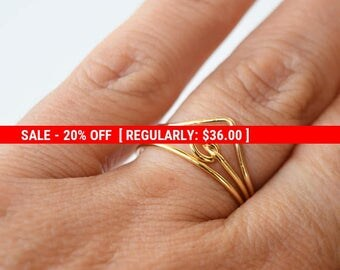 SALE 20% OFF Set of 3 rings,Gold rings,thin gold ring,Stacking rings,stacking gold rings,tiny gold ring,skinny gold ring,Minimal rings