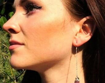 July 4th SALE // Raw Amethyst Earrings // Crystal Earrings // February Birthstone // Amethyst Earrings // Raw Amethyst // Silver Amethyst Ea